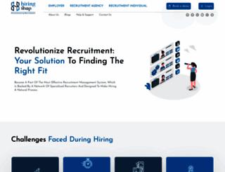 hiringshop.com screenshot