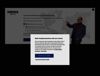 hirmer-grosse-groessen.de screenshot