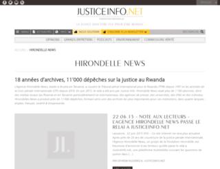 hirondellenews.org screenshot