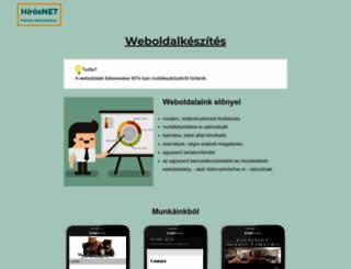 hirosnet.hu screenshot