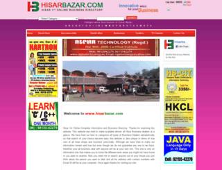 hisarbazar.com screenshot
