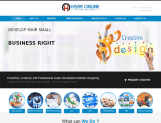 hisaronline.co.in screenshot