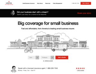 hiscox.com screenshot