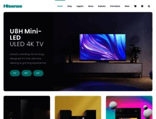 hisense.co.za screenshot