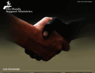 hishandssupportministries.org screenshot