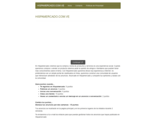 hispamercado.com.ve screenshot