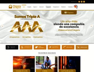 hispanadeseguros.com screenshot