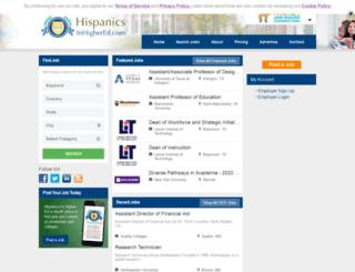 hispanicsinhighered.com screenshot