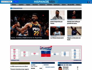 hispanosnba.com screenshot