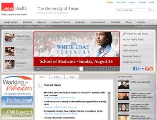 hiss.utmb.edu screenshot