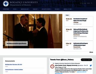 hist.boun.edu.tr screenshot