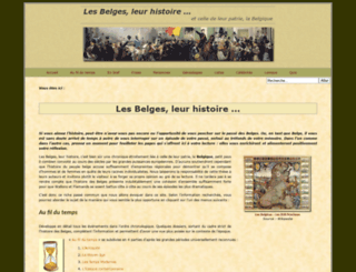 histoire-des-belges.be screenshot