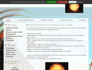 histoiresinsolites.com screenshot