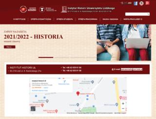 historia.uni.lodz.pl screenshot
