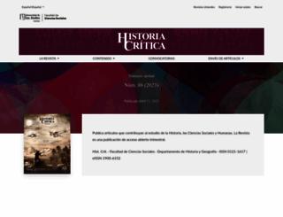 historiacritica.uniandes.edu.co screenshot