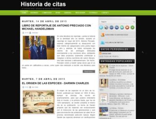 historiadecitas.blogspot.com screenshot