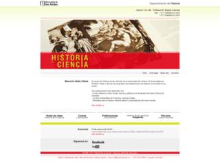 historiadelaciencia-mnieto.uniandes.edu.co screenshot