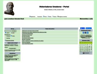 historiadoresunderos.foroactivo.com screenshot