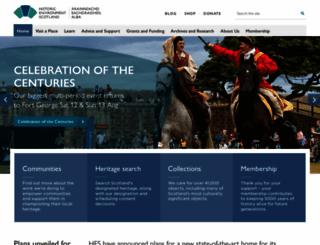 historic-scotland.gov.uk screenshot