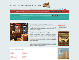 historicfootballposters.com screenshot