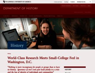 history.cua.edu screenshot