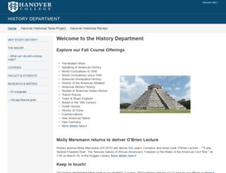 history.hanover.edu screenshot