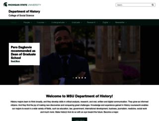 history.msu.edu screenshot