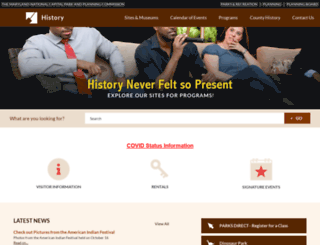 history.pgparks.com screenshot