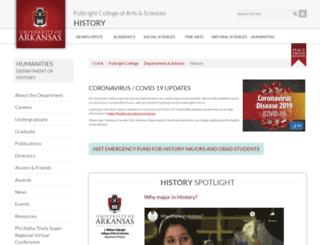 history.uark.edu screenshot