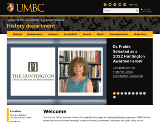history.umbc.edu screenshot