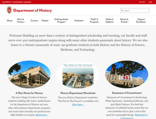 history.wisc.edu screenshot