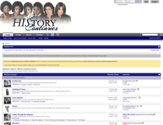 historycontinues.com screenshot