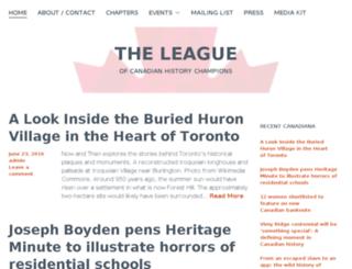 historyleague.org screenshot