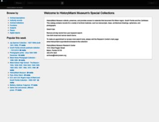 historymiamiarchives.org screenshot