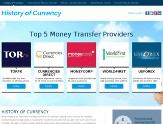 historyofcurrency.com screenshot