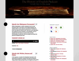 historyofenglishpodcast.com screenshot