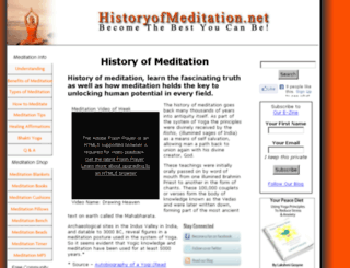 historyofmeditation.net screenshot