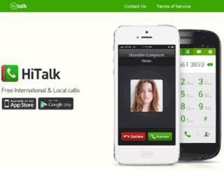 hitalkphone.com screenshot