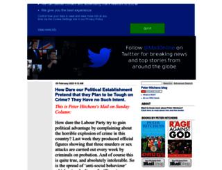 hitchensblog.mailonsunday.co.uk screenshot