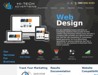 hitechadvertising.com screenshot