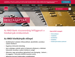 hitelkartya.mkb.hu screenshot