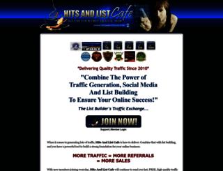 hitsandlistcafe.com screenshot