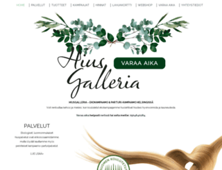 hiusgalleria.fi screenshot