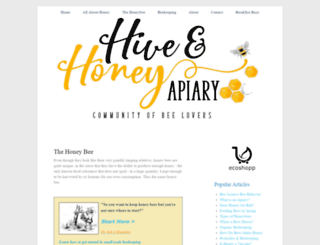 hiveandhoneyapiary.com screenshot