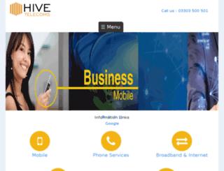 hivetelecoms.co.uk screenshot