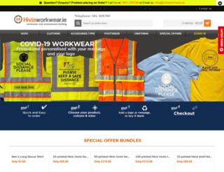 hivisworkwear.ie screenshot