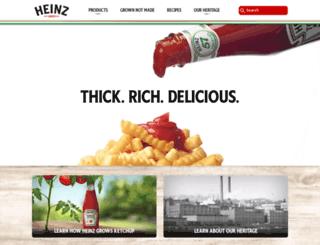 hjheinz.com screenshot