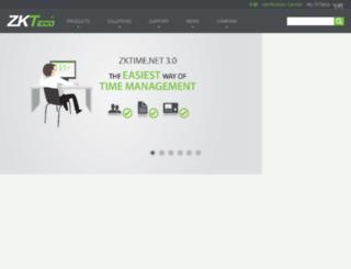 hk.zkteco.com screenshot