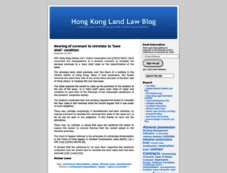 hklandlaw.wordpress.com screenshot