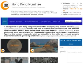 hknominee.com screenshot